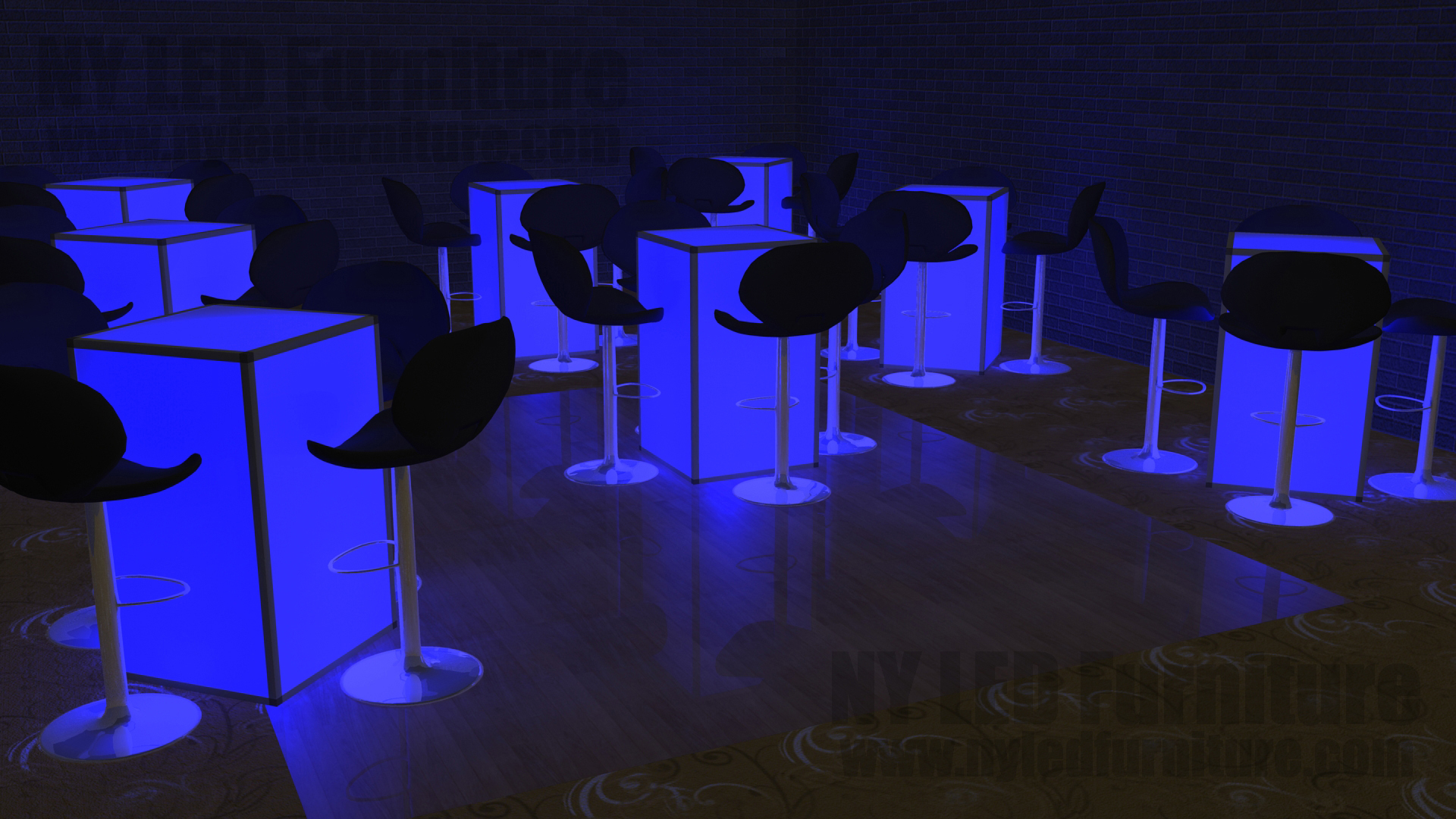 led table and chairs red office chair without wheels rental nassau county party furniture lighted cocktail ny