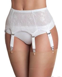 6 Strap Lace Suspender Belt