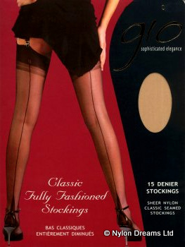 gio fully fashioned point heel stockings