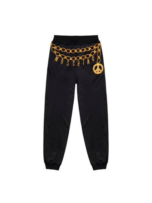 Embroidered track pants (front) S$179