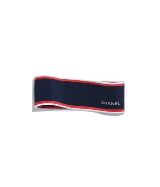 Headband in navy viscose and polyester