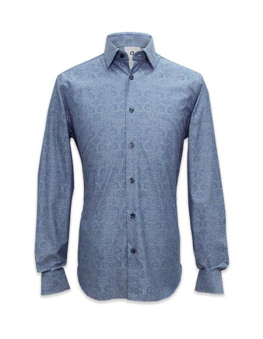 Q Menswear Long Sleeved Printed Chambray Shirt, $111.30
