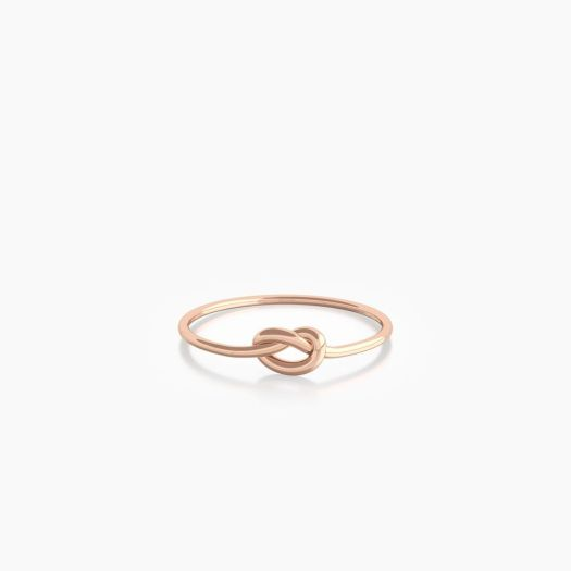The Mindful Company Infinity Knot in Rose Gold, $83