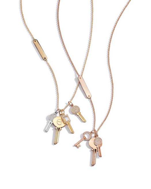 Tiffany Keys Modern Keys on Tag Chains ($1250 - $2400 per charm)
