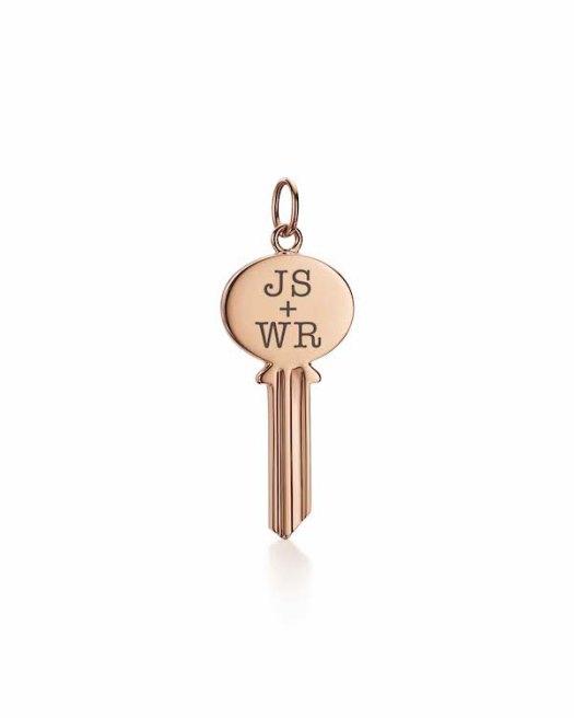 Tiffany Keys Modern Keys Oval Key Pendant in 18k Rose Gold ($1250)
