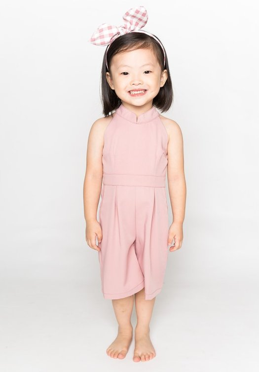 XOXOJOY Cheongsam Jumpsuit in Pink, $59