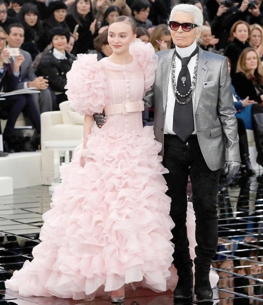 Lily Rose-Depp for Chanel in 2017