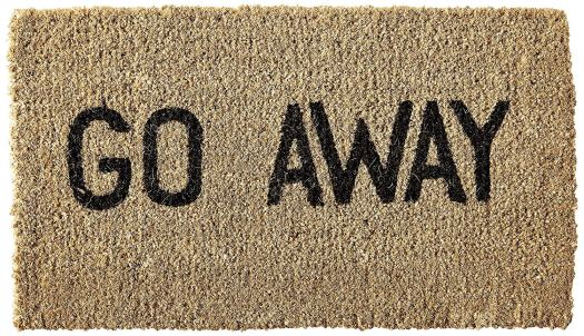 Kempf Go Away Doormat, $17.95