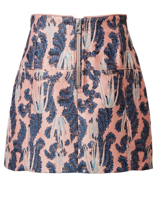 Exposed Zip Jacquard Skirt, $109