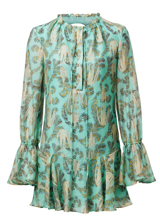 Green Printed Dress, $159