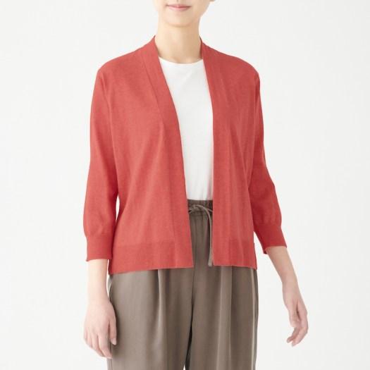 Organic Cotton High Twisted UV Protection Short Cardigan. Less 10% U.P. $49