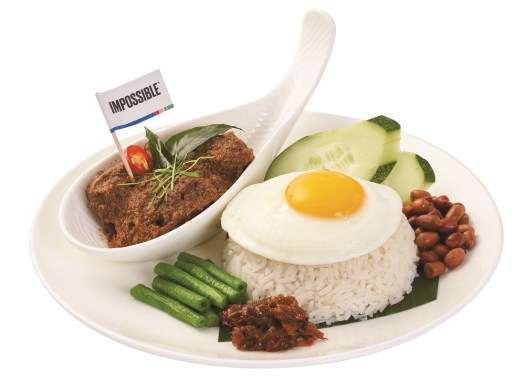 2.30pm to 4.30pm: PappaRich's Nasi Lemak with Impossible™ Rendang: Coconutmilk infused steamed rice served with Impossible rendang, egg, roasted peanuts,long beans, sliced cucumbers and vegetarian sambal