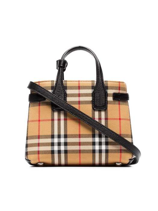 BURBERRY Baby Banner vintage check tote, $1,545