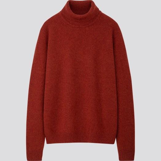 Men's Premium Lambswool Turtle Neck Long Sleeve Sweater in 26, $49.90