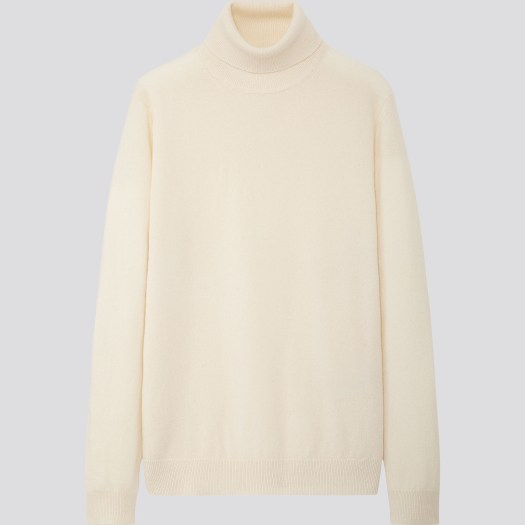 Men's Cashmere Turtle Neck Long Sleeve Sweater in 01, $149.90