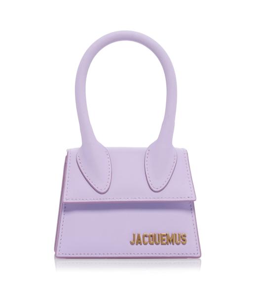JACQUEMUS Le Chiquito matte leather bag in purple, US$490
