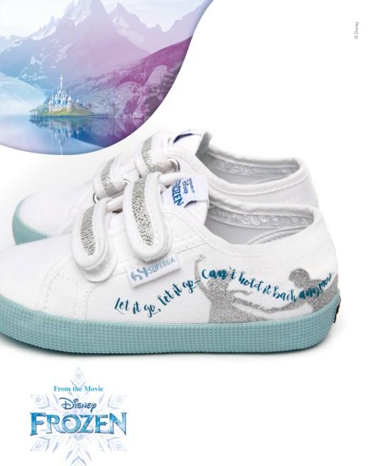 Superga X Frozen Crystal White Azure