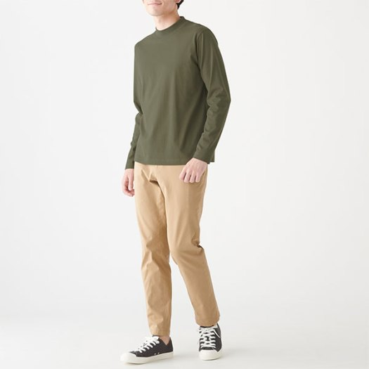 Indian Cotton Jersey Stitch High Neck L/S T-Shirt. Available in 6 colours. Any 2 less 10% (U.P. $19.90)