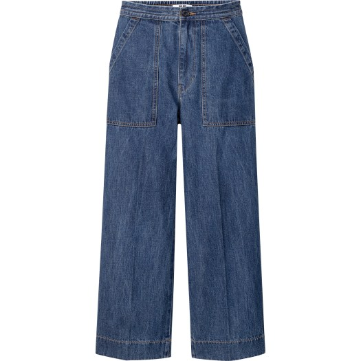 Denim Relaxed Ankle Pants, $59.90