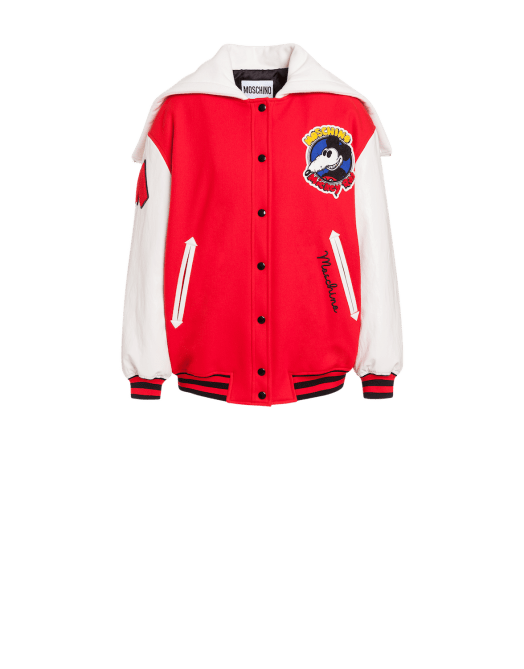 Moschino Mickey Rat Baseball Jacket