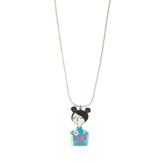 Cheongsam Chicks Necklace Silver $139.90