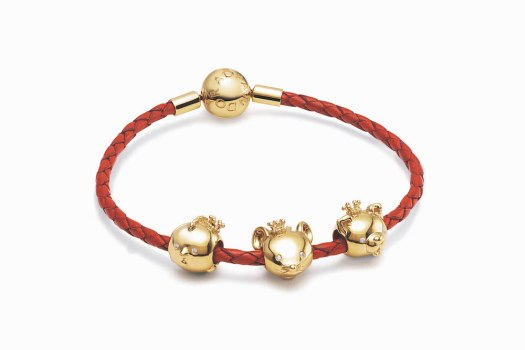 Pandora Moments Red Woven Leather Bracelet $99