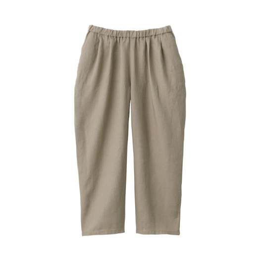 French Linen Tuck Wide Pants $69