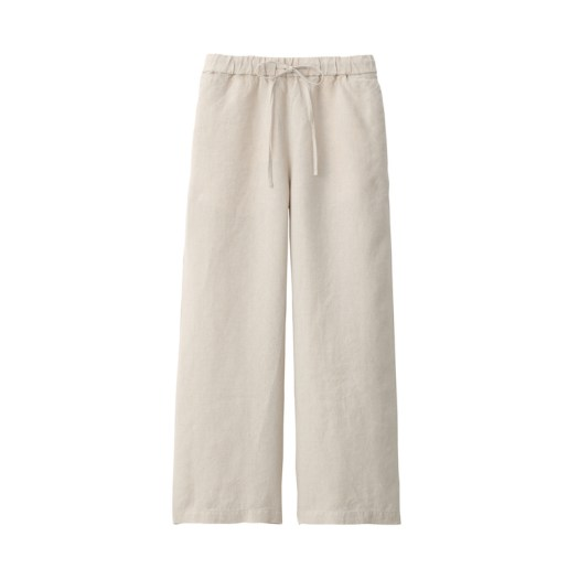 French Linen Straight Pants Ankle Length $59