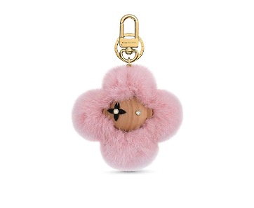 Louis Vuitton Vivienne Fur Doudou Bag Charm & Key Holder $1,510