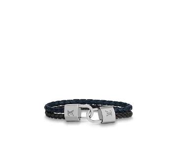 Louis Vuitton Braidlock Leather Bracelet $500