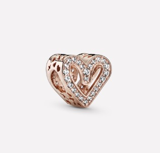 Pandora Sparkling Freehand Heart Charm $99