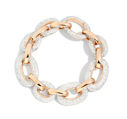 Pomellato Tango Bracelet in Rose Gold and White Diamonds