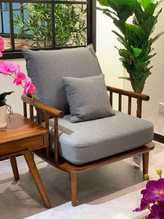 The Penang Collection One-Seater in Grey, $799