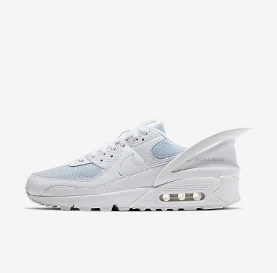 Nike Unisex Air Max 90 FlyEase in White/White/White $199