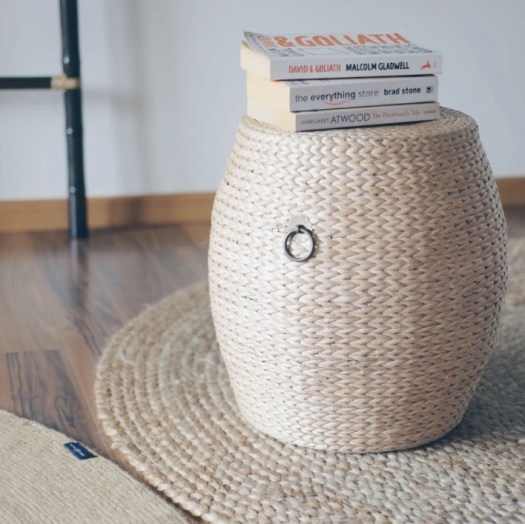 Grass Weave Drum Stool - Large, $129