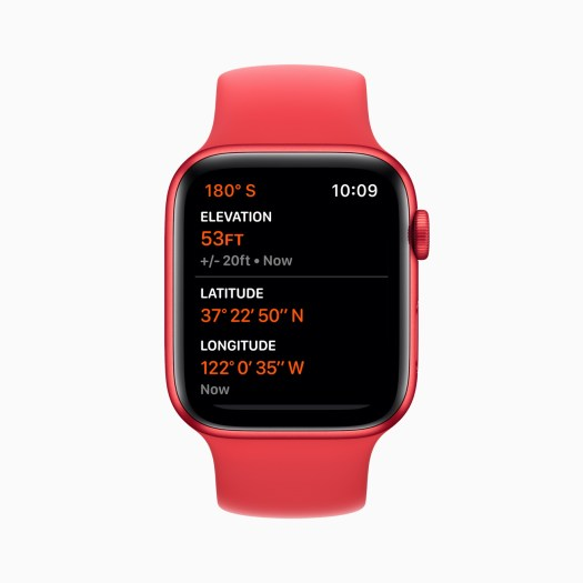 Apple Watch Series 6 Aluminum Red Case with Altimeter