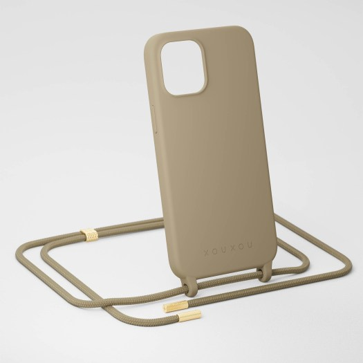 Taupe Silicone Case + Rope, $95