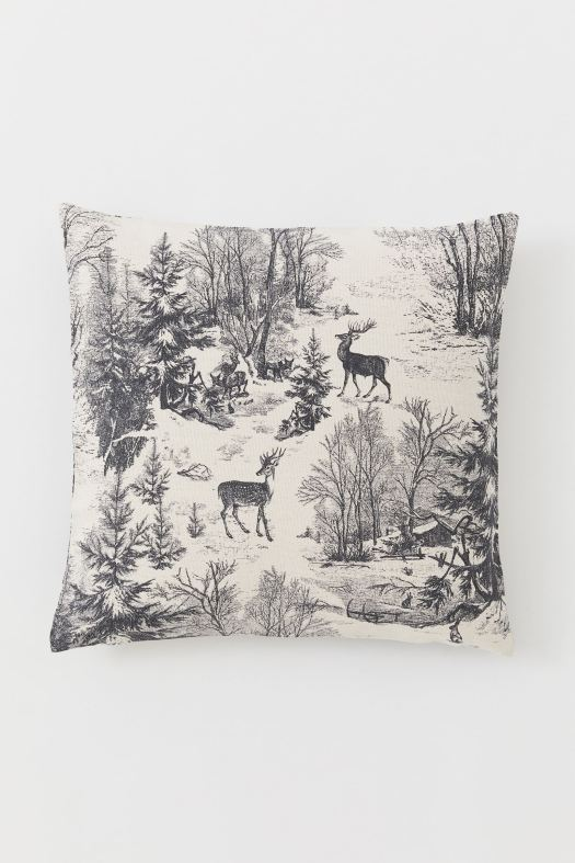 Organic Cotton Christmas Woods Cushion Cover (S$8.95)