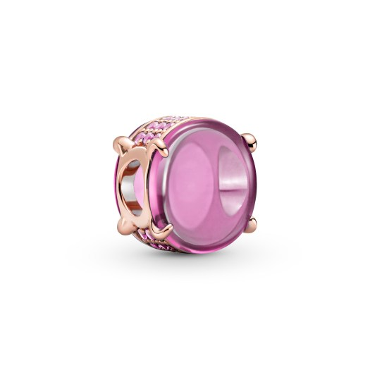 Pink Oval Cabochon Charm ($129)