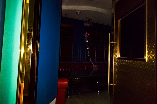 One of the rooms was open and I snapped a quick picture of an almost pitch-black room. The camera picked up ambient light and managed to capture some of the colours inside the room.