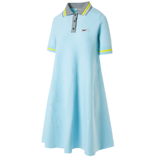 WS Polo Dress in Pale Blue