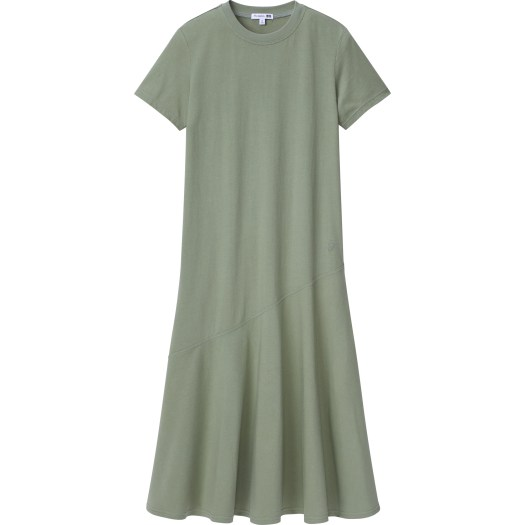 Women's JW Anderson Cotton Short Sleeve Fluid Hem Dress, $29.90