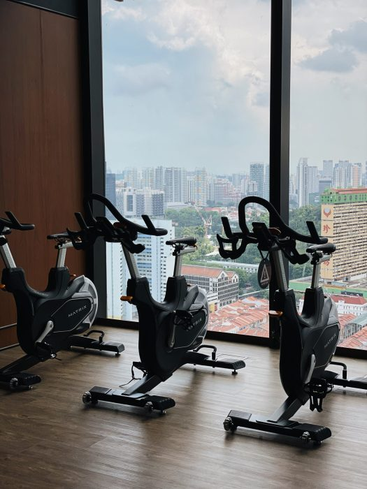 The Sky Gym, also located on the 30th floor of the hotel. Open 24 hours.