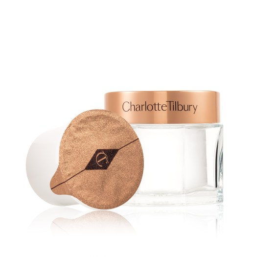 CHARLOTTE TILBURY CHARLOTTE'S MAGIC CREAM   Charlotte's Magic Cream is the first-ever product by Charlotte Tilbury, and a backstage secret used before photoshoots, red carpets, and runways, and is famous for boosting hydration and giving anyone an enviable glow. Good to know — the moisturiser, along with the eye cream and night cream, are now refillable and recyclable as well, available in Magic Refills that fit easily into the new glass jars, which you may also engrave your name on for a personalised touch. .