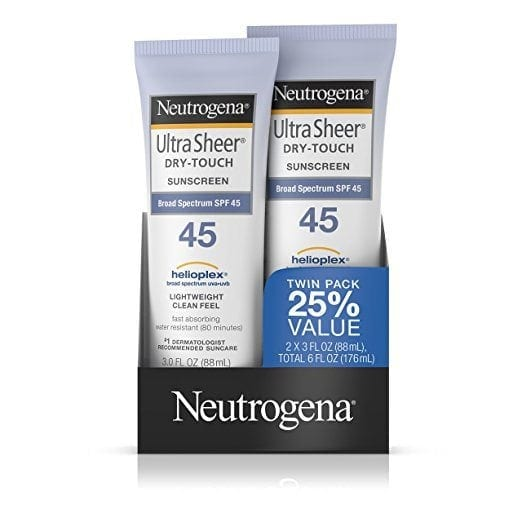 awesome travel beauty products - Neutrogena Sunscreen