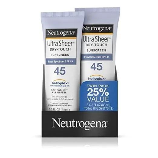 awesome travel beauty products - Neutrogena Sunscreen