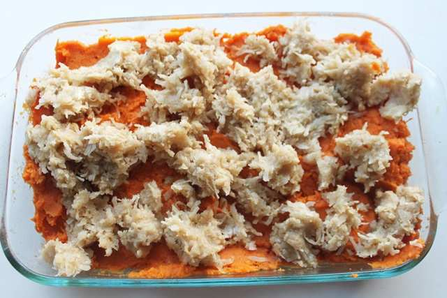 Coconut Infused and Marshmallow Topped Sweet Potato Casserole Crumble Topped