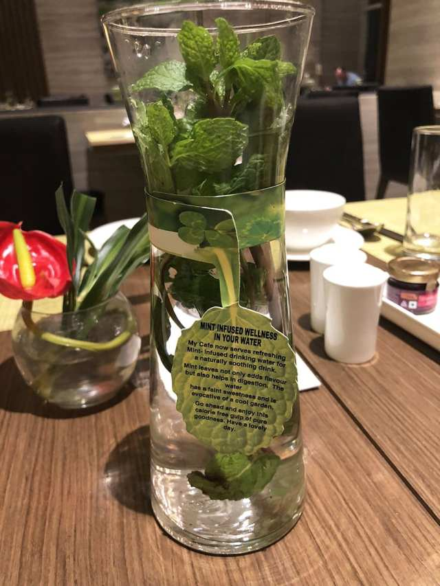 Welcom Hotel ITC Hotel bengaluru - buffet mint water