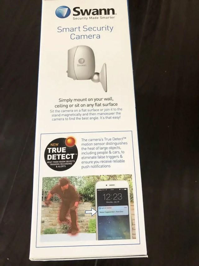 Swann Smart Security Camera Wireless 1080 Packaging Side1
