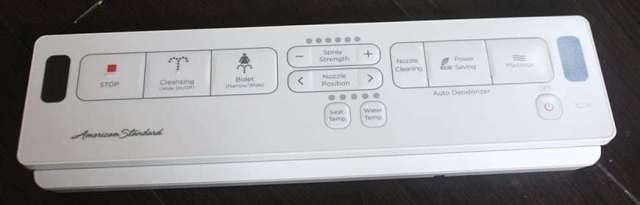heated toilet seat with the cleaning water spray - remote control